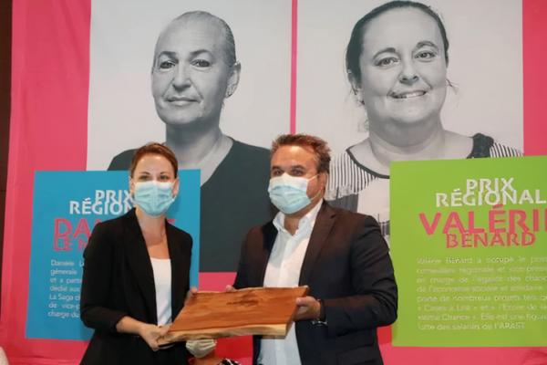Anne-Laure Morel, Founder & President of Torskal receiving the Daniele Le Normand award