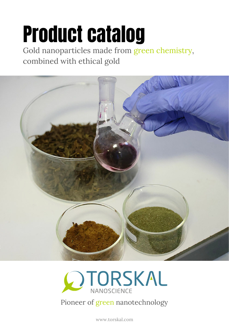 TORSKAL Gold Nanoparticles Product catalog - Cover Image