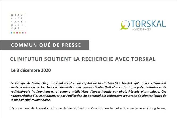 Press Release - Torskal partners with Clinifutur Group