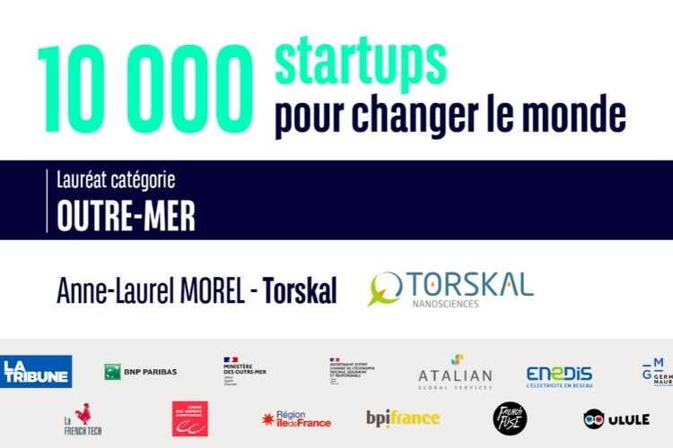 Torskal is the winner of the '10,000 startups pour changer le monde' contest in the overseas category